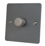 Flat Plate Pewter Dimmer Switches